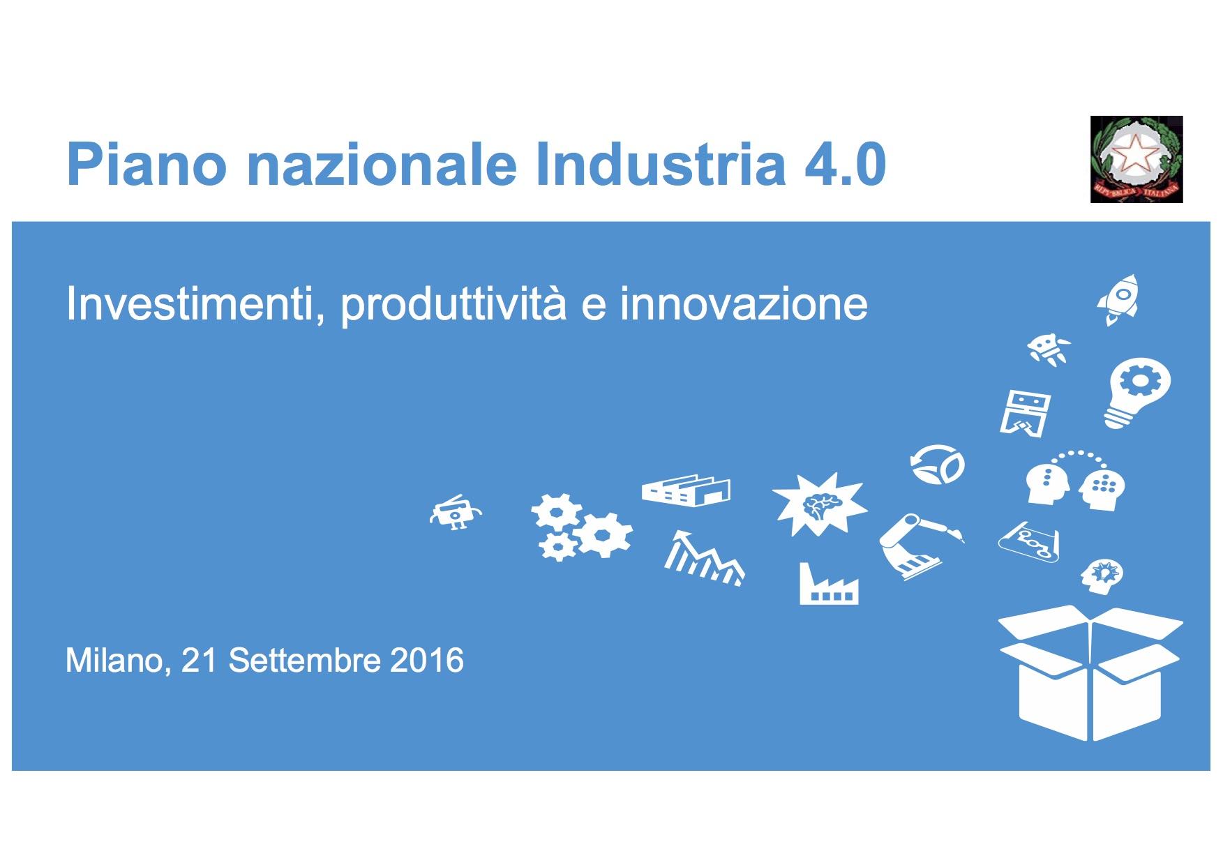 Il rilancio dell'industria 4.0 e le novità